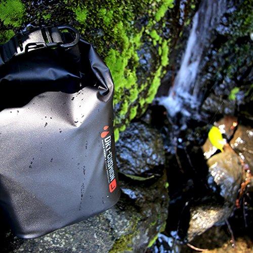 HAKUBA  防水インナーバッグ ドライ クッションポーチ L Dリング付き BK SDCP-L 3.8L