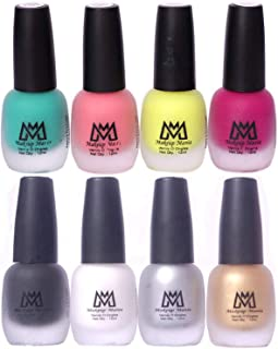 Makeup Mania Premium Nail Polish Set, Velvet Matte Nail Paint Combo of 8 Pcs, Perfect Gift for Girls and Women (Set No. 15-65), Multicolor, 600 g