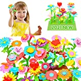 Flower Garden Building Toys, 3 Year Old Girl Gifts for Toddler, Educational Activity Stem Toys for...