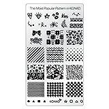 KONAD Placa de Diseños Rectangular para Estampado de Uñas - Los Diseños Más Populares