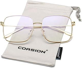 COASION Oversized Fashion Square Sunglasses for Women...