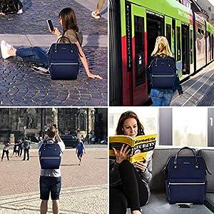 KROSER Mochila para Portátil 15.6″ Mochila Elegante Escolar para Computadora Mochila Informal Hidrófugo Bolsa de Negocios para Viaje/Negocio/Universidad-Azul Oscuro Laptop Backpack
