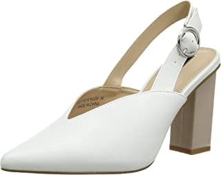 acddd15f0 Amazon.fr : Blanc - Escarpins / Chaussures femme : Chaussures et Sacs