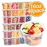 Glotoch Food Storage Containers with Airtight Lids 16 oz 48packs- Restaurant Deli Containers/Great...