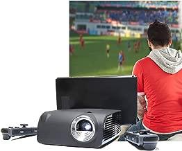 AAXA S1 Mini Nintendo Switch Dock Projector, 3 Hour Battery, USB-C Video Input, 720p HD Native Resolution, 400 Lumens, Gaming, DLP