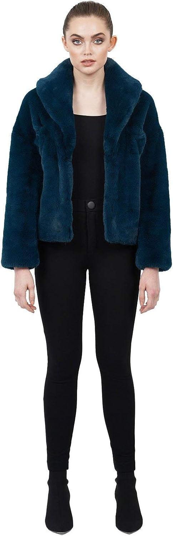 Love Token Womens Tiara Faux Fur Plush Jacket Coat