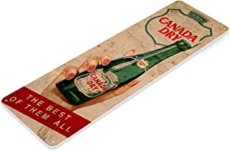 Tinworld Tin Sign Canada Dry Soda Rustic Cola Store Metal Sign Decor Kitchen Cottage Cave B555