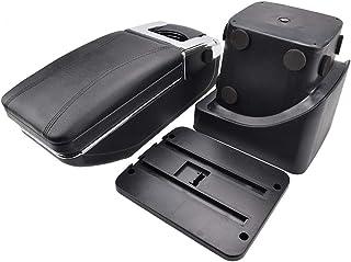 Caja de almacenamiento de reposabrazos 2pcs Set de vagones ABS Apoyabrazos de contenedores puerta de la caja de almacenamiento de la manija Cajas caso for Ford Focus 2 MK2 2005-2011 Accesorios int