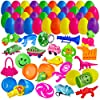 200 Filled Easter Eggs with Mini Toys and Figures - 2.25 Inch Egg for Easter Basket Stuffers, Kids Birthday Party Favors, Goodie Bags, Pinata Surprise, Tiny Gifts #1
