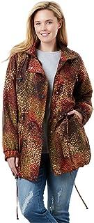 c42f86fc4d5 Woman Within Plus Size Fleece-Lined Taslon Anorak