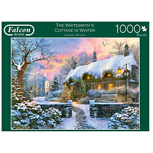 Jumbo- Carpenter's Winter PCS Falcon de luxe - The Whitesmith Cottage in Inverno 1000 pezzi Jigsaw Puzzle, Multicolore, 11227