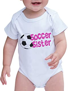 Custom Party Shop Baby Girl's Soccer Sister Onepiece