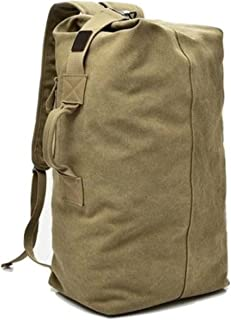 584742c26f32 Canvas Backpack Large Capacity Duffel Bag Outdoors Sports Gym Bag Hiking  Camping traveling Backpack for Men