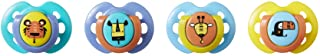 Tommee Tippee Closer to Nature Fun Style Baby Soother Pacifier, 0-6 months - 4 Count, Multi-Colored