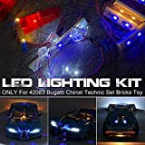 QXT Luces LED para Lego Technic Bugatti Chiron 42083, Kit de Iluminación Luz Compatible con Bloques de construcción...