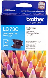 Brother LC73 Ink Cartridge 600-Pages Cyan