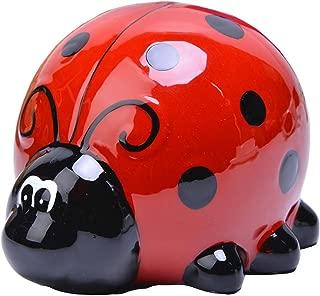 Lovely Piggy Bank Porcelain Money Box Ladybug 02