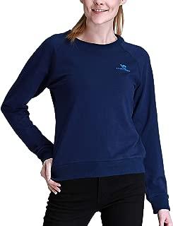 CAMEL Women Sweatshirt Crewneck Pullover Tops Casual Cotton Long Sleeve T Shirt