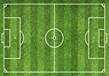 Alfombra de Vinilo Campo de Fútbol 80x55 cm Ideal para Zona de Juegos en Dormitorio Infantil y Juvenil Moqueta Vinílica de 2 mm de Grosor Fácil Limpieza (55x80 cm)