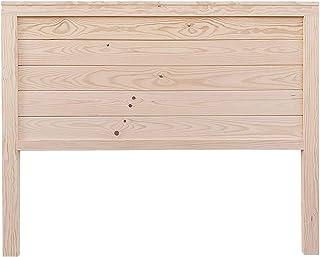 PEJECAR cabecero Modelo daimiel para Cama de 135 Fabricado en Madera Maciza de Pino insigni con Tablas horizontales en Crudo sin Pintar