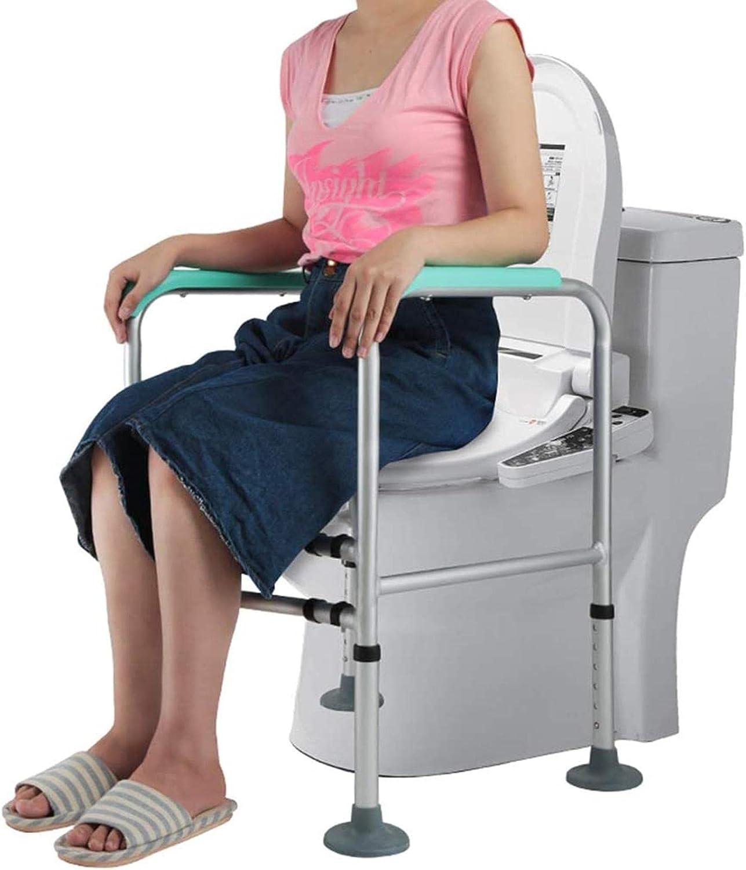 GDEVNSL Silla renovada Silla con Inodoro Ligera |Inodoro para Uso en el baño Junto a la Cama |Adecuado para Adultos obesos, Ancianos, Mujeres Embarazadas, Personas discapacitadas