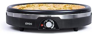 Crepes Maker 38 cm med 1 380 watt – crepeapparat för pannkakor – crêpes för hemmet – Crepesmaker med non-stick beläggning...