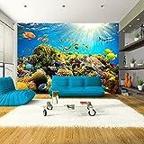 murando Carta da parati 350x256 cm Fotomurali in TNT Murale alla moda Decorazione da Muro XXL Poster Gigante Design Carta per pareti natura pesce b-A-0002-a-a