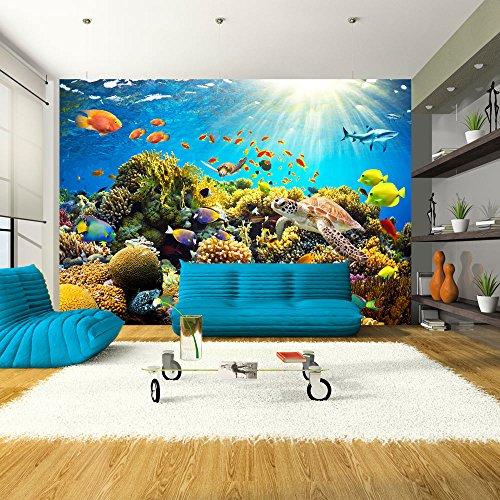 murando Carta da parati 400x280 cm Fotomurali in TNT Murale alla moda Decorazione da Muro XXL Poster Gigante Design Carta per pareti natura pesce b-A-0002-a-a