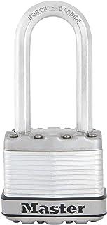 Master Lock Heavy Duty-Hangslot [Sleutel] [Gelamineerd staal] [Weerbestendig] [Lange beugel] M1EURDLH - Voor opslagunits, ...