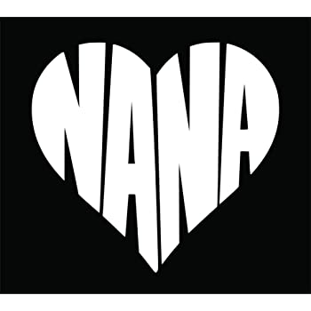 7W X 3H White CMI165 Worlds Best Nana Decal Car Truck Window Sticker