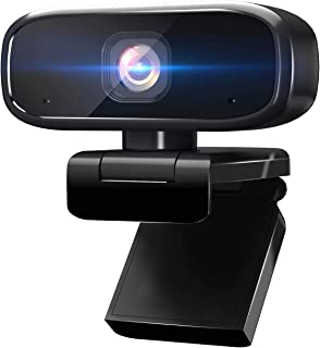 1080P Webcam with Microphone, Intpw Web Cam USB Camera for PC & Laptop,Computer QHD Streaming Webcam with Auto Light Corre...