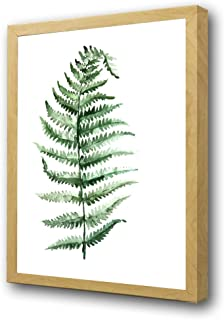 Canvas Wall Art Green Plants Tropical Leaves Wall Paintings Simple Botanical Print Framed Wall Pictures for Bedroom Bathroom Living Room Modern Home Decorations(Framed) (12