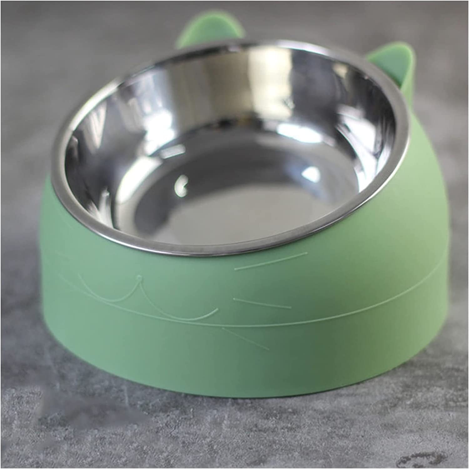 JKXWX Cat Bowl 15 Degrees Bowls Puppy Large-scale sale Raised Stainless Steel Soldering
