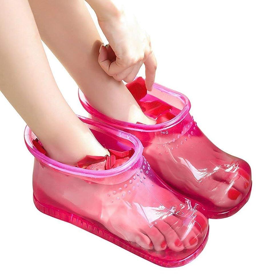 経営者半径農夫フットバススパブーツ高チューブシューズケア洗面器は、疲れた足マッサージを落ち着かせるとリラックス,Pink