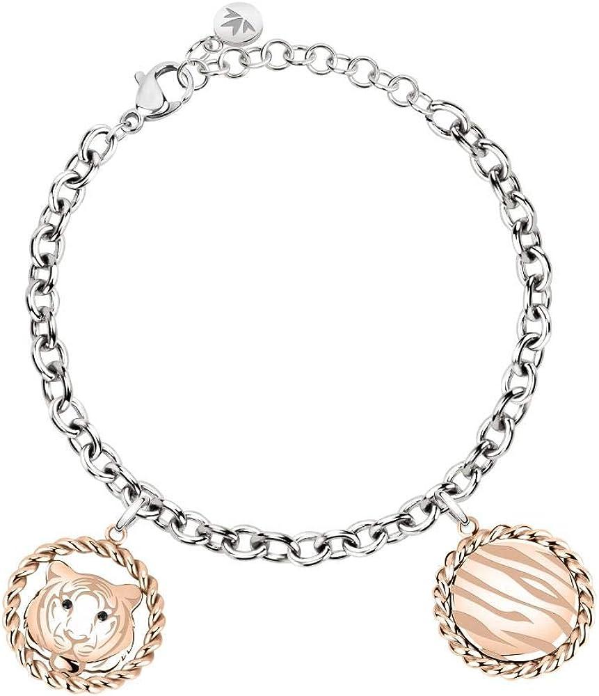 Morellato, bracciale da donna, collezione madagascar, in acciaio, cristalli SATF06