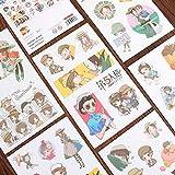 BLOUR Identità V Personaggi di Gioco Adesivo Washi Decorazione Scrapbooking Cartoleria Pianificatore Adesivi6 Fogli/Pacco