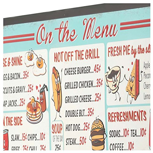 Open Road Brands On The Menu Board - Vintage Retro Metal Tin Signs - Great for Bar and Diner Art, Kitchen and Home Decor