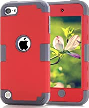 Case for iPod 7 6 5 Cases for iPod Touch 6th Generation Case for iPod 5 Cases, Dual Layered 3 in 1 Hard PC Silicone Shockp...