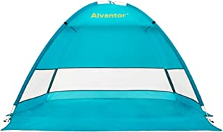 Alvantor Beach Tent Super Bluecoast Beach Umbrella Outdoor Sun Shelter Cabana Automatic Pop Up UPF 50+ Sun Shade Portable ...