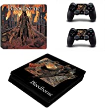 Playstation 4 Slim Skin Set - Bloodborne HD Printing Vinyl Skin Cover Protective for PS4 Slim Console and 2 PS4 Controller by Mr Wonderful Skin