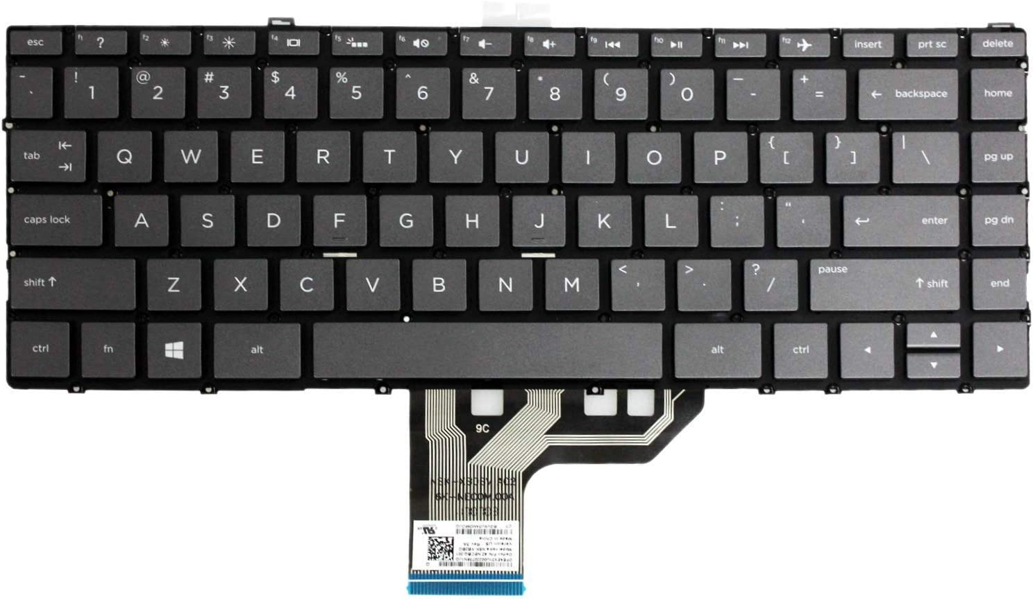 Original New for HP Spectre x360 15-BL012dx 15-BL075nr 2-in-1 US Gray Backlit Touchscreen Laptop Keyboard