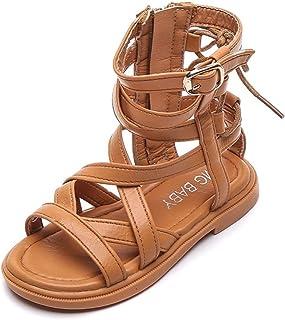 Sandalias Romanas para niñas Verano Suela Suave Transpirable High Top Zip Princess Zapatos Niños Casual Antideslizante San...