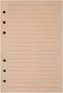 Refills Lined Paper, MALEDEN Refillable A6 Paper for 5x7 Journal Notebook Inserts 200 Lined Pages