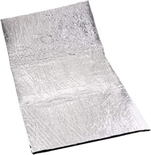 B Baosity 40 x 40 Zoll Alu Fiberglas Hitzeschutzmatte selbstklebend Autoturbo Auspuff Krümmer Isoliermatte Hitzeschutzfolie