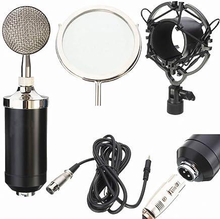 XIANGA Microfono Microfono a condensatore Professionale per Registrazione Audio con Microfono a condensatore dinamico per la Trasmissione di Musica KTV - Trova i prezzi più bassi