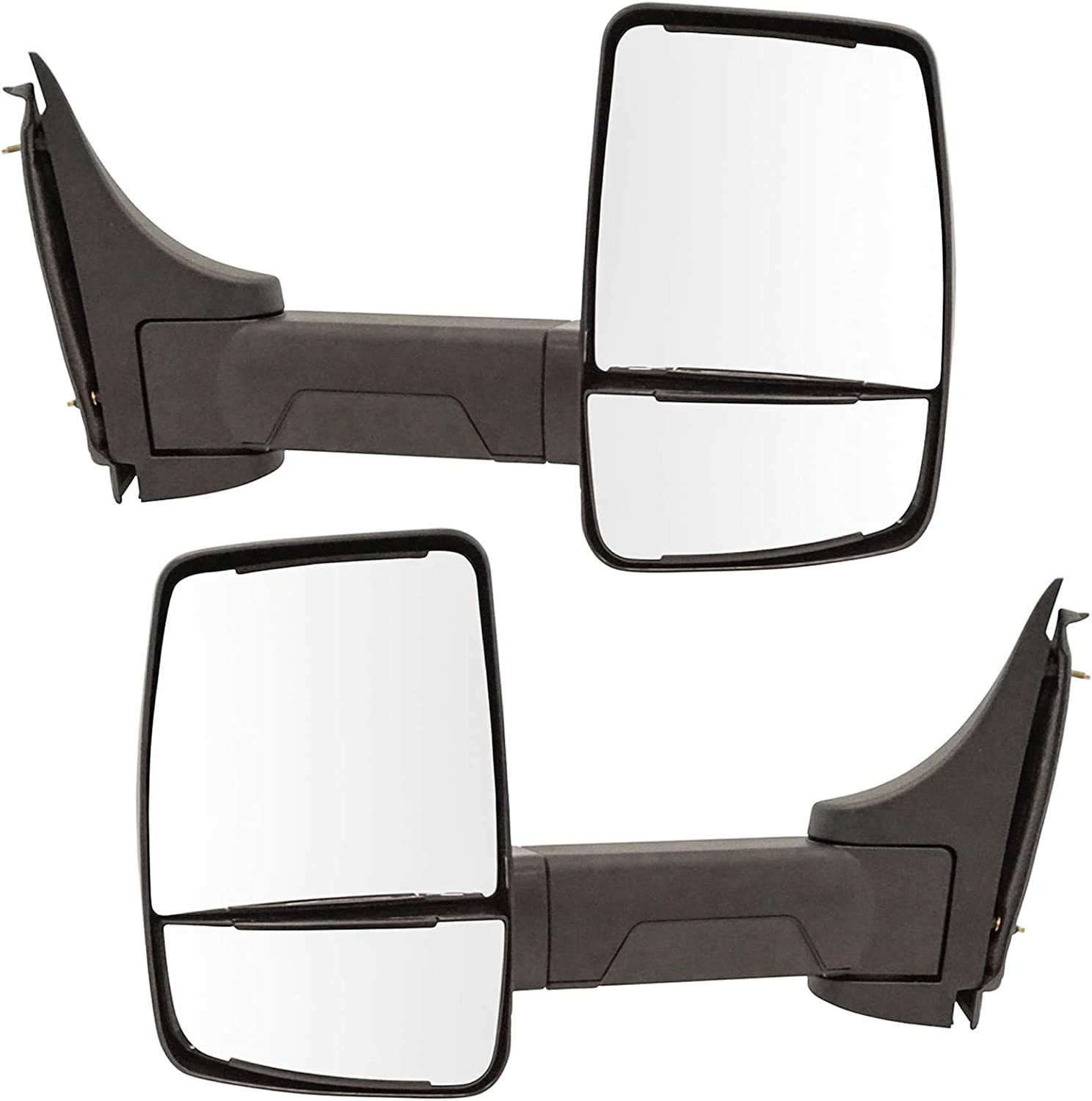 TRQ Tow Mirrors 4 years warranty Manual Textured Black sold out Set of 2003-201 Pair 2 for