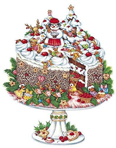 KORSCH コルシュ アドベントカレンダー 森のケーキ 37×50cm ドイツ製【11732】