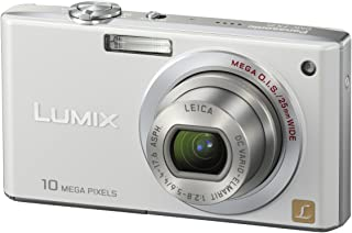 Panasonic DMC FX35EG W Digitalkamera (10 Megapixel, 4 fach opt. Zoom, 6,4 cm (2,5 Zoll) Display, Bildstabilisator) perlmuttweiß