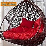 SXFYMWY Silla de Huevo Colgante Cojín Mimbre Huevos de Mimbre Sillas Cushions Thick Nest Chair Back Pads (excluyendo la Silla Colgante),C