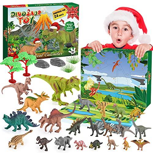 BOXYUEIN Calendrier de l'avent, Jouet Garcon 2 3 4 5 6 7 8 9 10 ans Dinosaure Jouet Cadeau Enfant 2-10 ans Garçon Calendrier de lavent 2021 Kinder Cadeau de Noël Enfant Jeux Enfant 2 3 4 5 6-10 ans